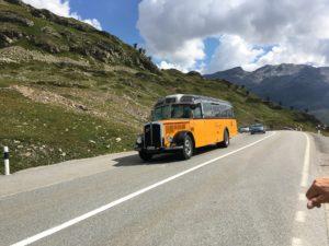 Mit dem Bus auf den Bernina